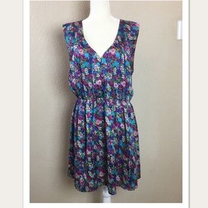 Tinley Road Blue Turquoise Floral Summer Dress